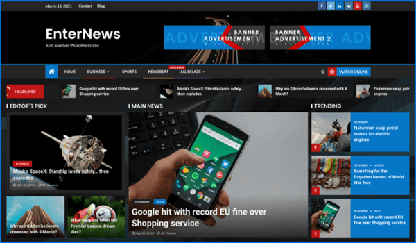 Free WordPress Themes For News, Magazines and Blogs